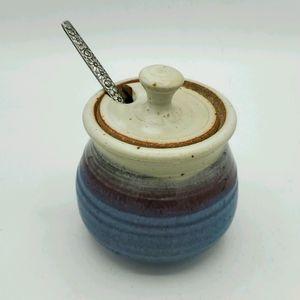 Vintage handmade sugar bowl